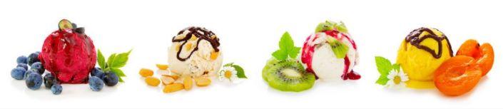 фартук для кухни фруктовые шарики мороженного