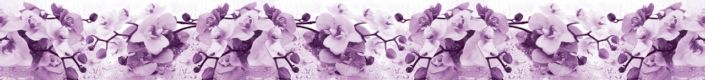 фартук для кухни орхидеи фиолетовые