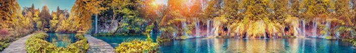 фартук для кухни сказачный водопад в парке