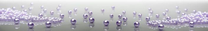 фартук для кухни перламутровые фиолетовые бусины