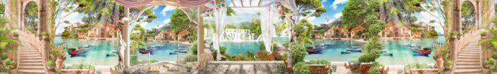скинали для кухни фрески набережная с веранды солнечный день