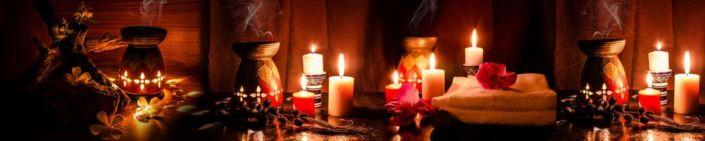фартук для кухни горящие свечи