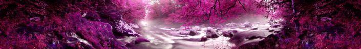 фартук для кухни розовый в природе