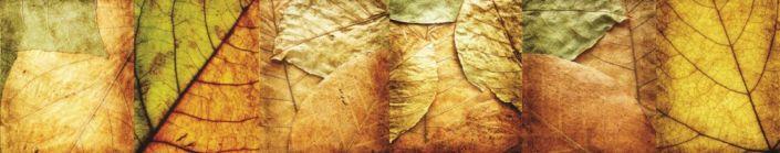 фартук для кухни листья осенние