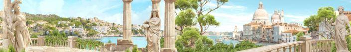 фартук для кухни фрески статуи колоны набережная Италии