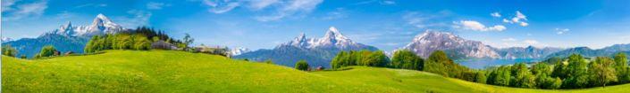 фартук для кухни небо горы зелёные луга