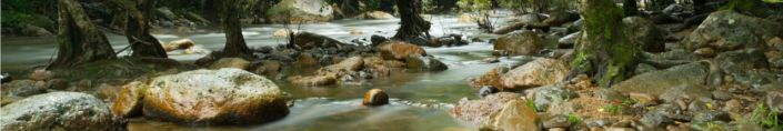 фартук для кухни течение реки и камни