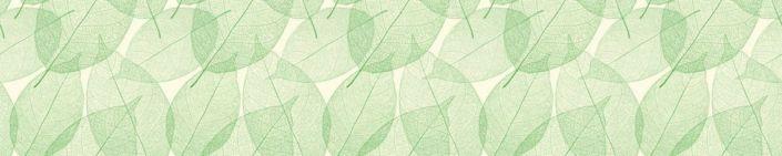 фартук для кухни зелёный листок прозрачный