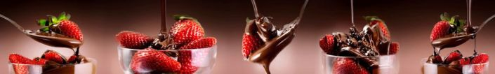 фартук для кухни клубника и шоколад