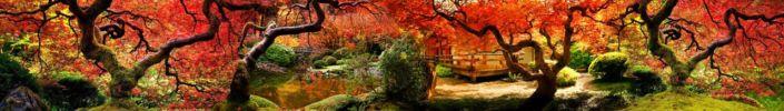 фартук для кухни красивые сказочные деревья