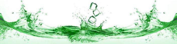 фартук для кухни зелёная прозрачная вода со льдом