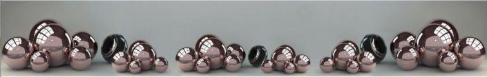 фартук для кухни металические шарики в сером