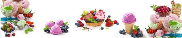 фартук для кухни ягодно-фруктовые морожное
