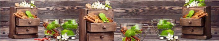 фартук для кухни дерево доска ящик чай мята