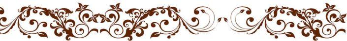 фартук для кухни коричневый узор на белом