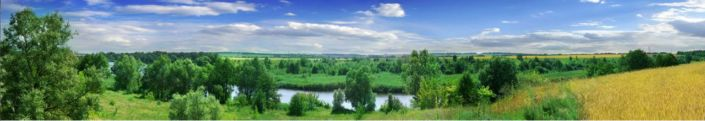 фартук для кухни небо леса река поля