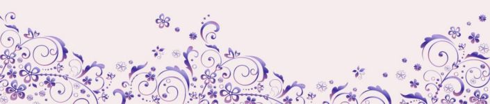 фартук для кухни фиолетовый узор в сереневом фоне