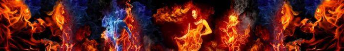 фартук для кухни пламя огня