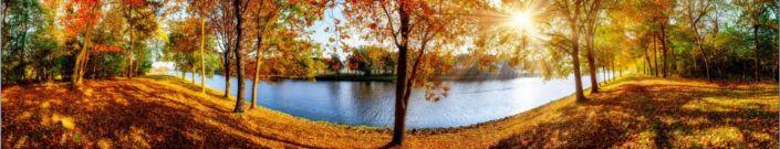фартук для кухни золотая осень у реки