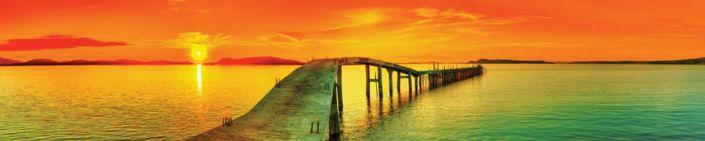 фартук для кухни закат у моря мост