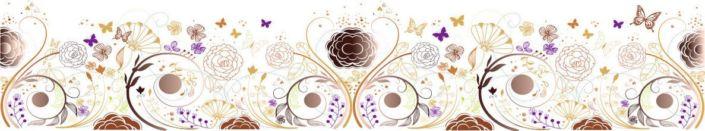 фартук для кухни узор луг цветы и бабочки