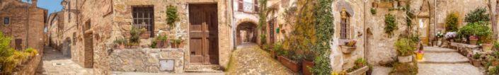 скинали для кухни фрески каменые дома узкие улочки
