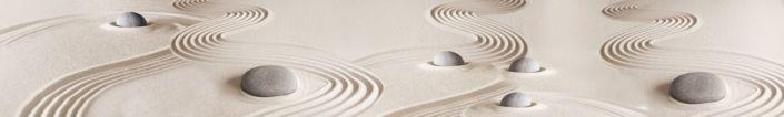 фартук для кухни белый песок и серый камень