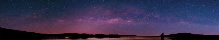 фартук для кухни тёмное звездное небо вид с земли