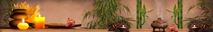 фартук для кухни коричневый бамбук свечи