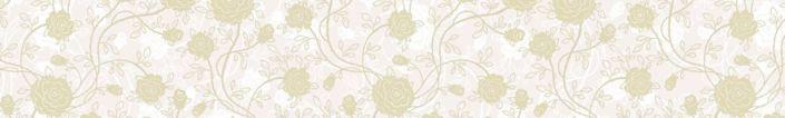 скинали для кухни бледно-жёлтый принт цветочный в бежевом