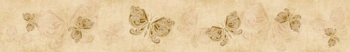 фартук для кухни бежевый бабочки рисунок