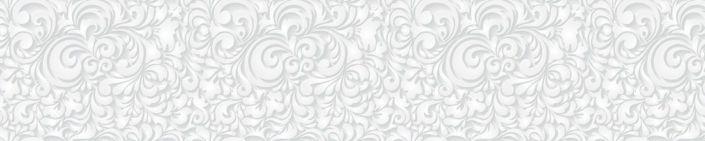 фартук для кухни узор белый в сером