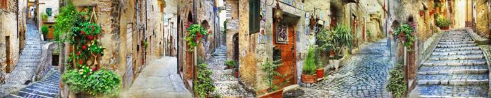 скинали для кухни фрески стариные улочки