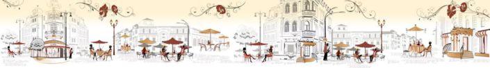 фартук для кухни уличные Парижские кафе