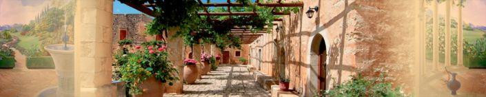 скинали для кухни фрески солнечная веранда дворик