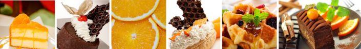 фартук для кухни апельсиновые десерты