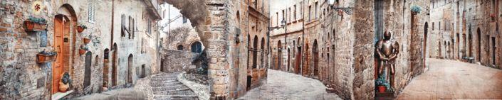 скинали для кухни фрески старинные улицы города