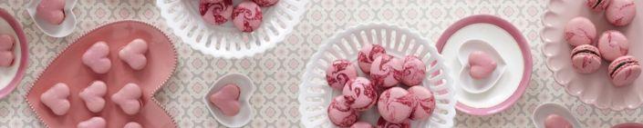 фартук для кухни розовые ягодные десерты пирожных