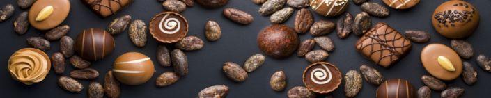 фартук для кухни шоколадные конфеты и зерна шоколада