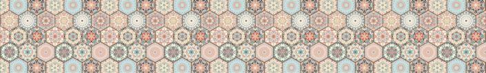 фартук для кухни шестиугольная плитка майолика