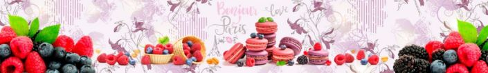 фартук для кухни ягода малина черника и ежевика и пирожное