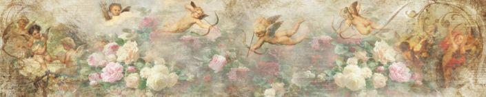 фартук для кухни фрески амуры в цветах