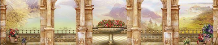 фартук для кухни фрески веранда с колонами виды на природу
