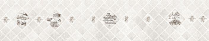 Скинали для кухни серый в ромбы с картинками