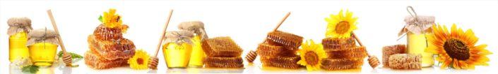 фартук для кухни мёд соты подсолнухом