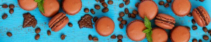 фартук для кухни кофейные пирожные макарони