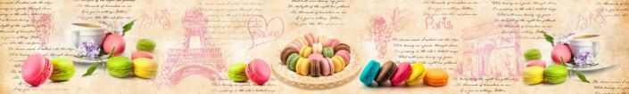 фартук для кухни цветные пирожные макароне Париж