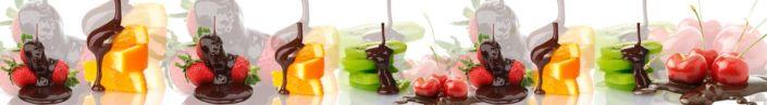 Скинали для кухни фрукты в шоколаде