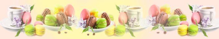 фартук для кухни макарон пирожное цветное