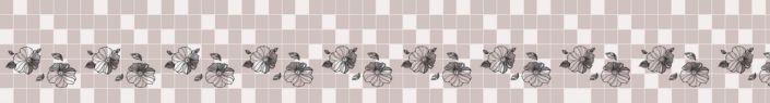 фартук для кухни бежевый плитка принт цветок